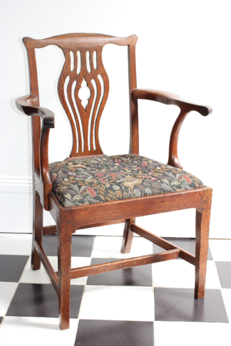 George III oak armchair, C. 1770 -0