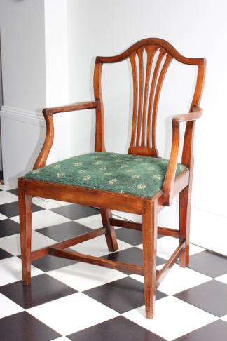 George III mahogany armchair, C. 1785 -0