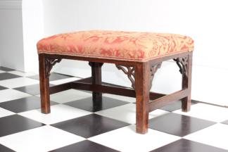 George III Chippendale mahogany stool, c. 1770 -0