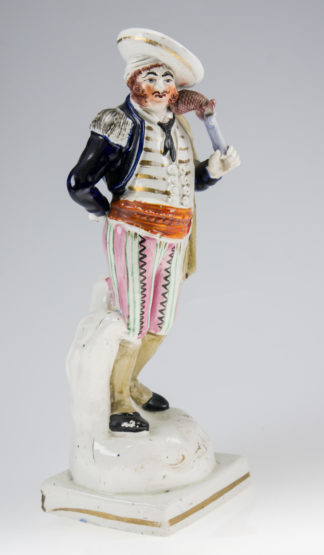Staffordshire theatrical figure of a pirate, c. 1850 -0