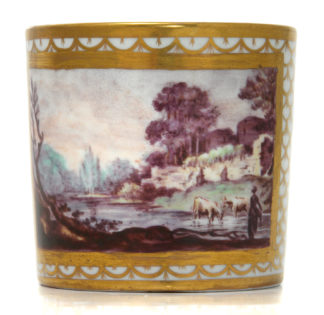 Coalport coffee can, London decoration, c.1800 -0
