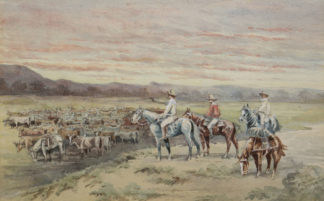 Esam, Arthur (1850-1938) original watercolour 'After New Country' 1904 -0