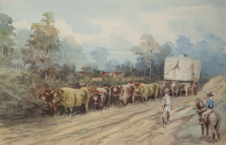 Esam, Arthur (1850-1938) original watercolour 'Near Gilang, South Australia' 1901 -0
