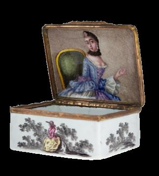 German enamel box with portrait of a lady, c.1770 -0