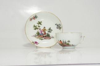 Meissen petite cup & saucer, C. 1750 -0
