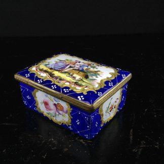 English enamel box, circa 1780 -0