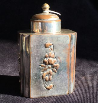 Close Plated tea caddy, probably French, C. 1800 -0