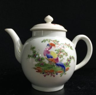Worcester Teapot with exotic birds, C. 1765 -0