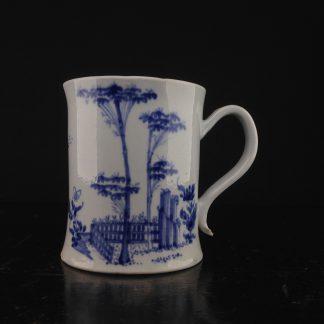 Worcester porcelain tankard, c.1754-56 -0