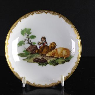 Meissen saucer painted with sheep, Circa 1765 -0