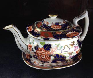Mrs Bowring' teapot & stand, Imari pattern #286, c.1820 -0