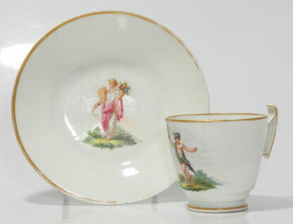 Swansea cup & saucer by Baxter, Ceres & Mercury, C. 1817 -0