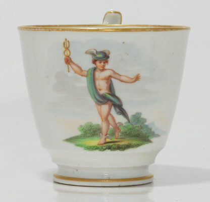 Swansea cup & saucer by Baxter, Ceres & Mercury, C. 1817 -401