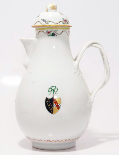 Chinese Export coffee pot - arms of Hippesley & Stuart, C. 1790 -0