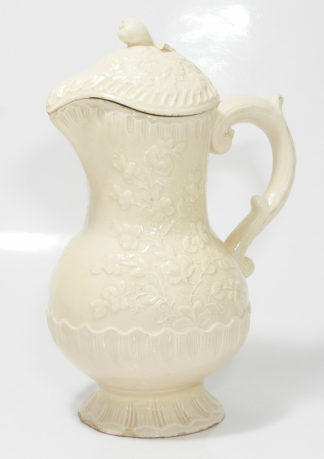 French creamware (Pont-aux-Choux) covered jug , C. 1760 -0