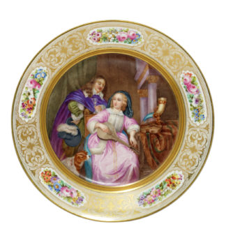 Sevres plate with well painted historical scene, dated 1901 -0