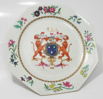 Armorial plate, arms of Murray, probably Spode c. 1800 -601