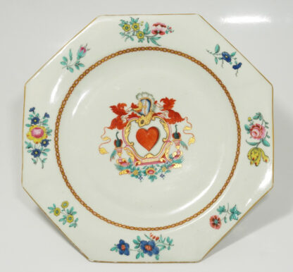 English armorial plate, 'SPERO' motto, attributed to Wolfe & Co, C.1805 -598