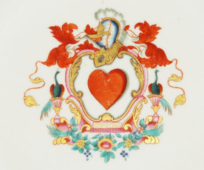 English armorial plate, 'SPERO' motto, attributed to Wolfe & Co, C.1805 -599