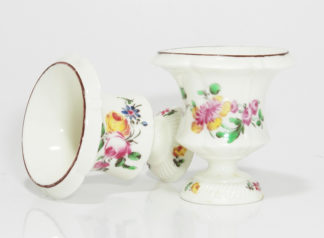 Pair of Mennecy Medici vases Circa 1750 -0