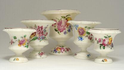 Pair of Mennecy Medici vases Circa 1750 -382