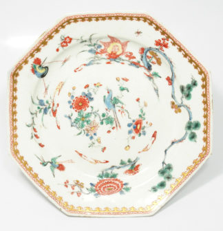 Bow 'flaming tortoise' kakiemon plate, C. 1750 -0