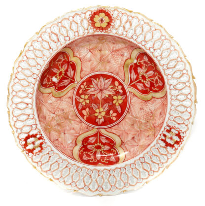 Chinese export pierced plate, C. 1750 -0
