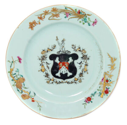 Chinese export armorial plate, Newton, C. 1750 -0