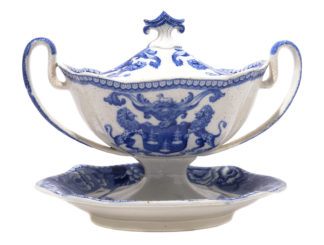 Rare Riley tureen from the Drapers Guild, C. 1820 -0