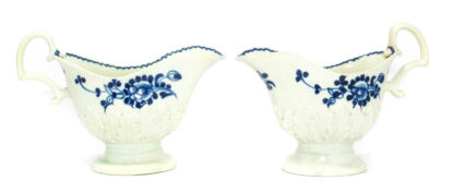 Pair of Liverpool sauceboats, Pennington's, C. 1780 -0
