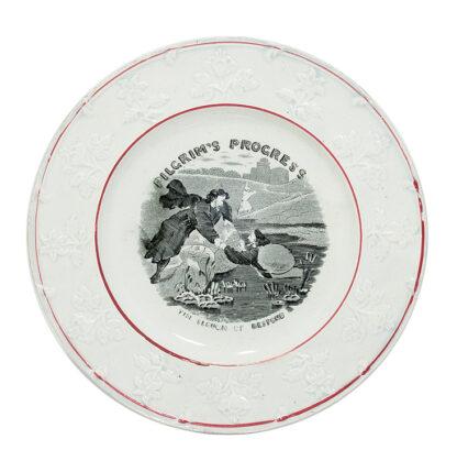 Child's plate, PILGRIMS PROGRESS, C. 1840 -0