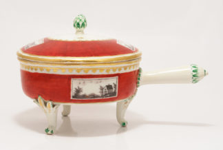 Vienna tureen with monotone panels, dated 1806 -0