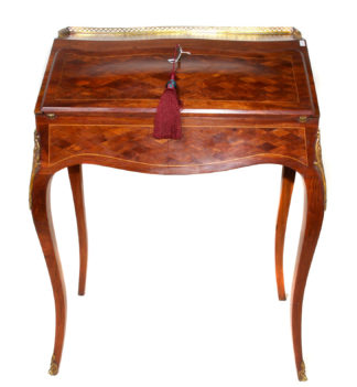 Fine French desk of small size, Kingwood with ormolu mounts, c.1890 -0