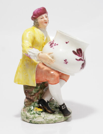 Vienna figure, a gent with a large pot, c. 1749 -0