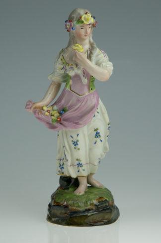 Hoscht figure of a girl, by Melchior, c. 1770-0