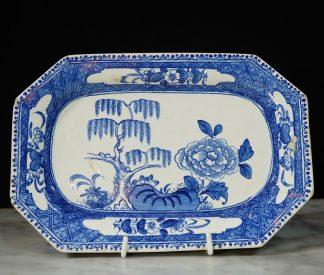 Bow Willow Porcelain Platter 1765
