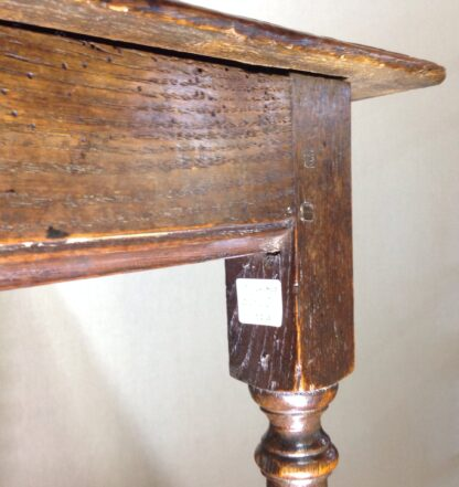 English oak joined side table, 17th century -6544
