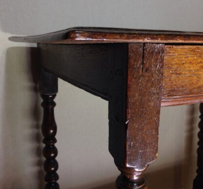 English oak joined side table, 17th century -6547