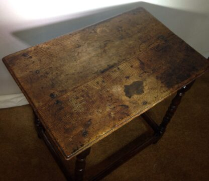 English oak joined side table, 17th century -6550