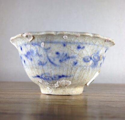 Vietnamese Hoi An shipwreck teabowl, flower petal form with blue & white, c. 1480 -0