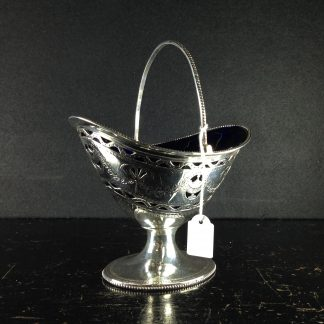 Sterling Silver, George III, sugar basket, c.1784. -0