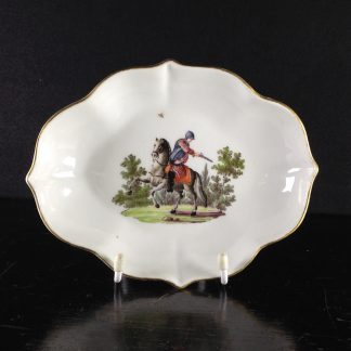 Meissen spoon tray with soldier on horseback, c.1760 -0