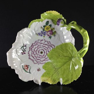 Chelsea peony flower dish, red anchor, c.1755 -0