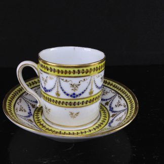 Nast coffee cup & saucer, classical, c.1785 -0