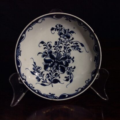 Lowestoft teabowl & saucer, after Worcester's Mansfield, c.1765 -654