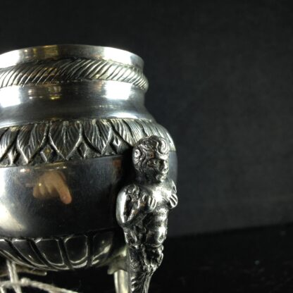 Swedish silver tripod vase, 18th century-2326