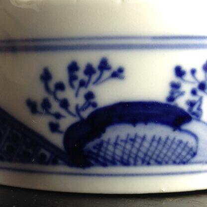 Meissen butter tub with chinoiserie underglaze blue, C. 1740-2630