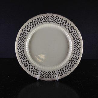 Creamware plate with pierced border, circa 1780-0