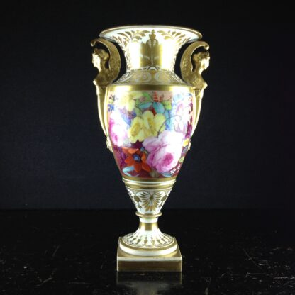 Davenport vase, winged handles & flower painting, c. 1825 -2773