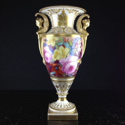 Davenport vase, winged handles & flower painting, c. 1825 -2774